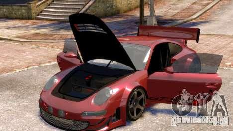 Porsche 911 GT3RSR для GTA 4 вид изнутри