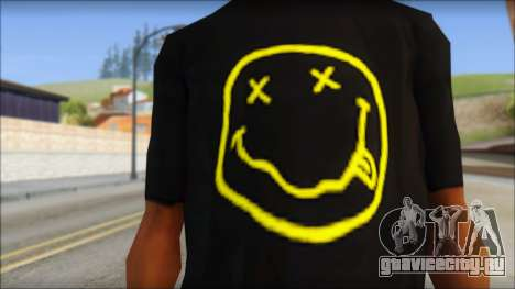 Nirvana T-Shirt для GTA San Andreas третий скриншот