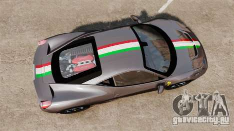 Ferrari 458 Italia Speciale Novitec Rosso для GTA 4 вид справа