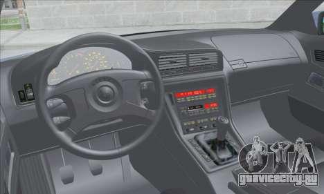 BMW E31 850CSi 1996 для GTA San Andreas вид изнутри