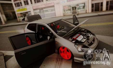 Honda Civic TypeR для GTA San Andreas вид сзади