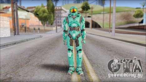 Masterchief Blue-Green from Halo для GTA San Andreas второй скриншот