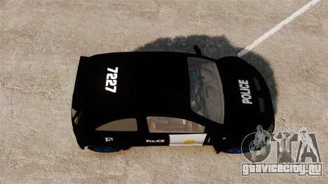 Opel Corsa Police для GTA 4 вид справа