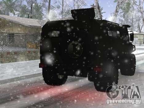 ГАЗ 2975 Тигр для GTA San Andreas вид сзади