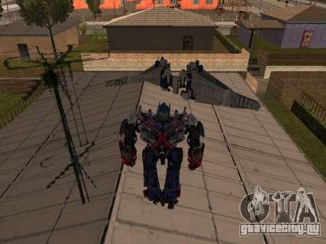 Optimus Jetpack для GTA San Andreas третий скриншот