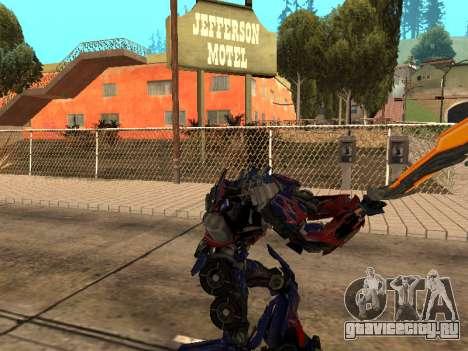Optimus Sword для GTA San Andreas шестой скриншот