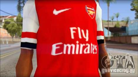 Arsenal FC Giroud T-Shirt для GTA San Andreas третий скриншот