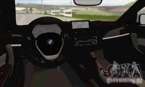 BMW M135i для GTA San Andreas салон