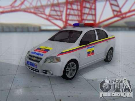 Chevrolet Aveo Милиция OНР для GTA San Andreas