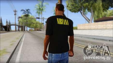 Nirvana T-Shirt для GTA San Andreas второй скриншот