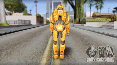 Masterchief Orange для GTA San Andreas третий скриншот