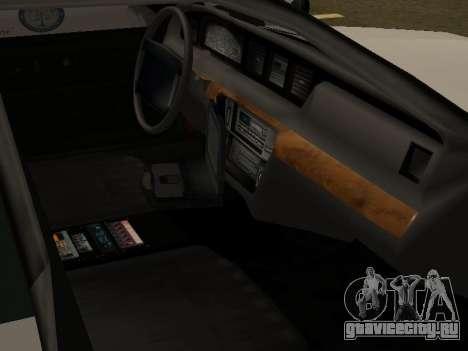 Police Original Cruiser v.4 для GTA San Andreas салон