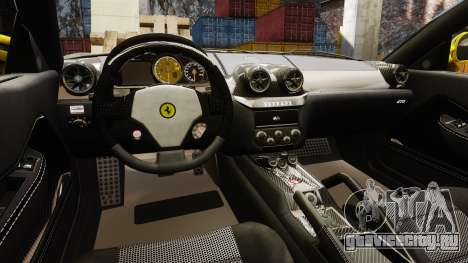 Ferrari 599 GTO PJ3 для GTA 4 вид изнутри