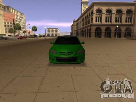 Mazda 3 для GTA San Andreas вид сзади