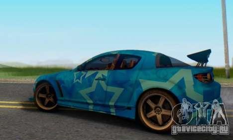 Mazda RX-8 VeilSide Blue Star для GTA San Andreas вид сзади слева