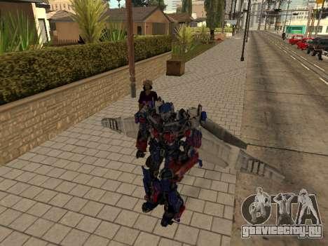 Optimus Jetpack для GTA San Andreas пятый скриншот