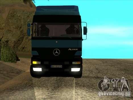 Mercedes-Benz Actros 1840 для GTA San Andreas вид сзади