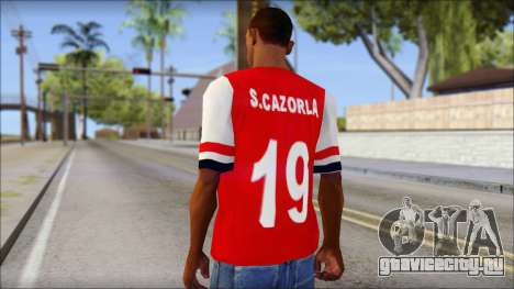 Arsenal 2013 T-Shirt для GTA San Andreas второй скриншот