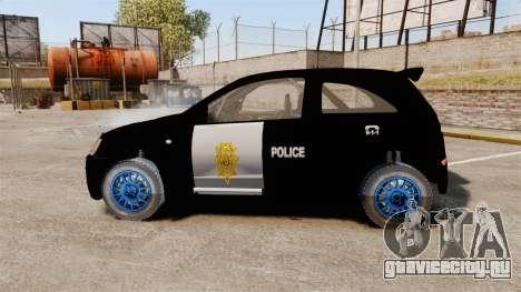 Opel Corsa Police для GTA 4 вид слева