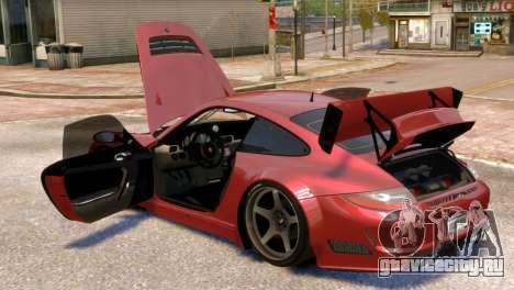 Porsche 911 GT3RSR для GTA 4 вид сбоку