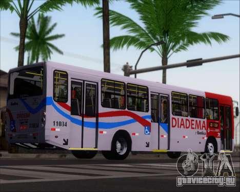 Comil Svelto 2008 Volksbus 17-2 Benfica Diadema для GTA San Andreas вид сзади слева