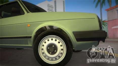 Volkswagen Golf II 1991 для GTA Vice City вид сзади слева