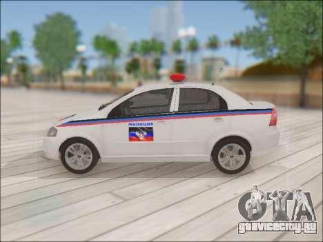 Chevrolet Aveo Милиция ДНР для GTA San Andreas вид слева