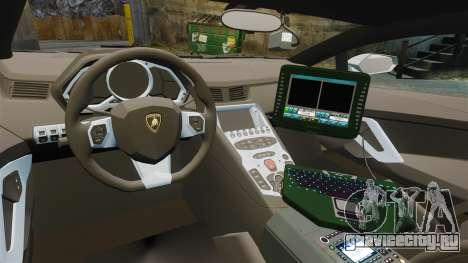Lamborghini Aventador LP700-4 v2 [RIV] для GTA 4 вид сзади