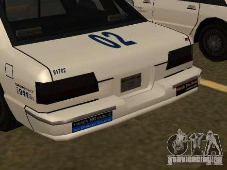 Police Original Cruiser v.4 для GTA San Andreas вид сверху