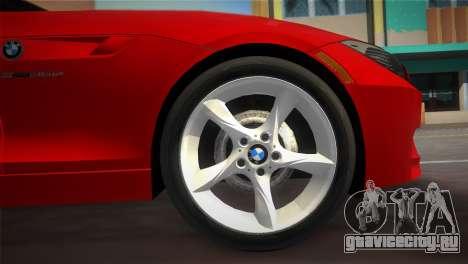 BMW Z4 sDrive35is для GTA Vice City вид справа
