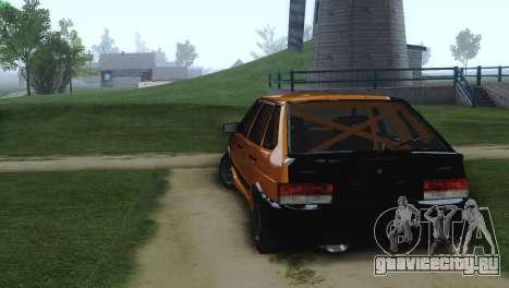 ВАЗ 2114 Корч для GTA San Andreas вид сзади слева