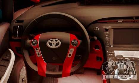 Toyota Prius Hybrid 2011 Helaflush для GTA San Andreas вид изнутри