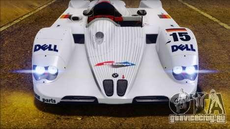 BMW 14 LMR 1999 для GTA San Andreas вид изнутри