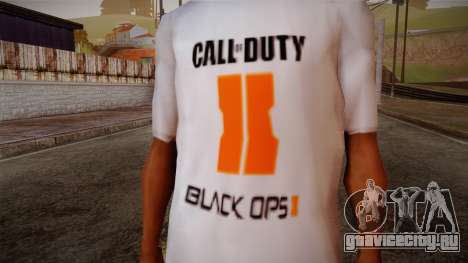 COD Black Ops II White Fan T-Shirt для GTA San Andreas третий скриншот