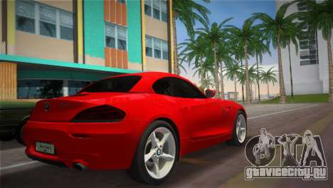BMW Z4 sDrive35is для GTA Vice City вид слева