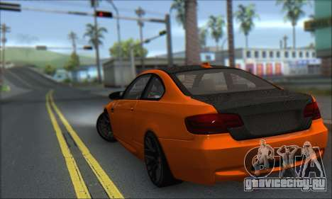 BMW M3 E92 Soft Tuning для GTA San Andreas вид слева