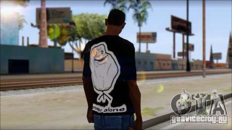Trollface and Forever Alone T-Shirt для GTA San Andreas второй скриншот