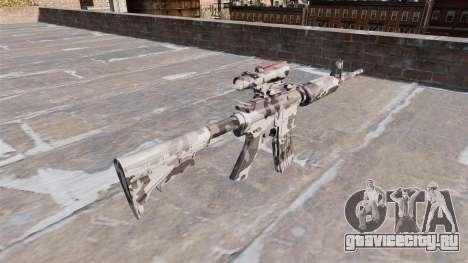 Автоматический карабин М4А1 Arctic Camo для GTA 4 второй скриншот