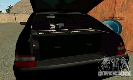 ВАЗ 21123 Turbo для GTA San Andreas вид снизу