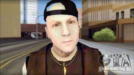 Benji from Good Charlotte для GTA San Andreas третий скриншот