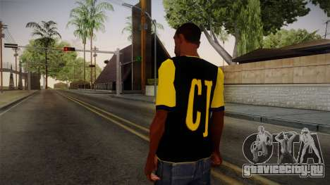 Black & Yellow T-Shirt для GTA San Andreas второй скриншот