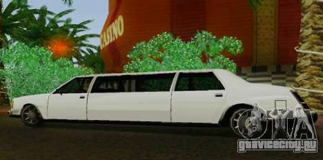 Washington Limousine для GTA San Andreas вид слева