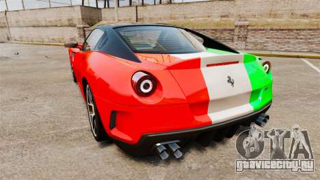 Ferrari 599 GTO PJ4 для GTA 4 вид сзади слева