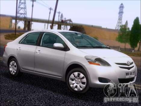 Toyota Yaris 2008 Sedan для GTA San Andreas вид сбоку