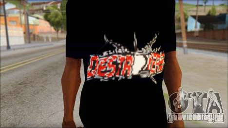 Destroyers T-Shirt Mod для GTA San Andreas третий скриншот
