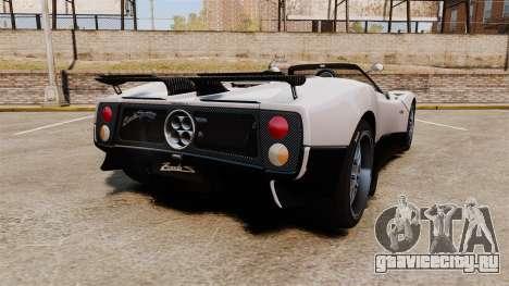 Pagani Zonda C12S Roadster 2001 v1.1 PJ2 для GTA 4 вид сзади слева