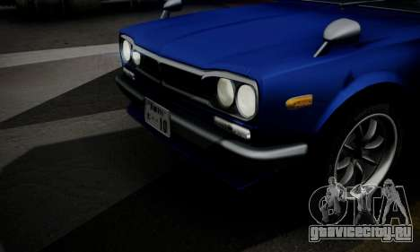 Nissan Skyline GC10 2000GT для GTA San Andreas вид снизу