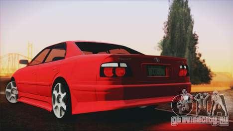 Toyota Chaser Tourer Stock V2.5 1999 для GTA San Andreas вид слева