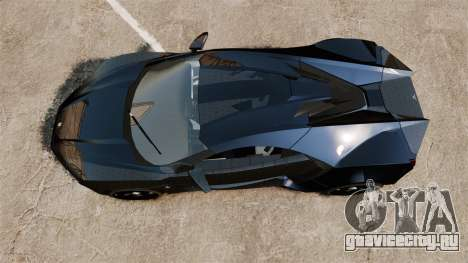 Lykan HyperSport Black для GTA 4 вид справа
