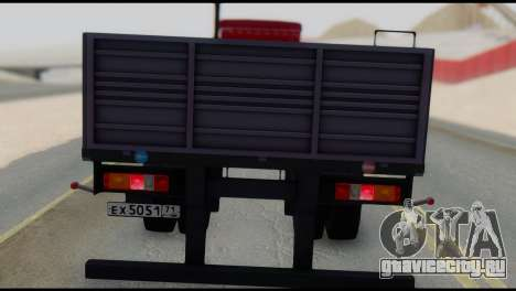 Полуприцеп МАЗ 93866 для GTA San Andreas вид сзади слева